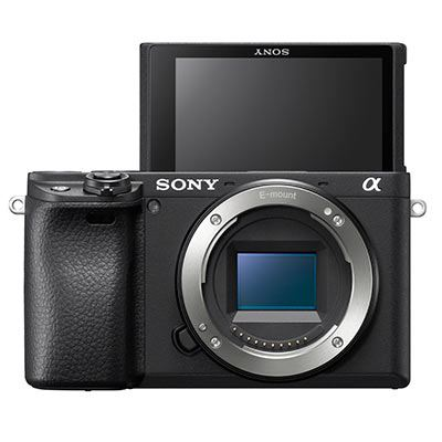 Sony a6400 Camera Body Front Facing with flip screen