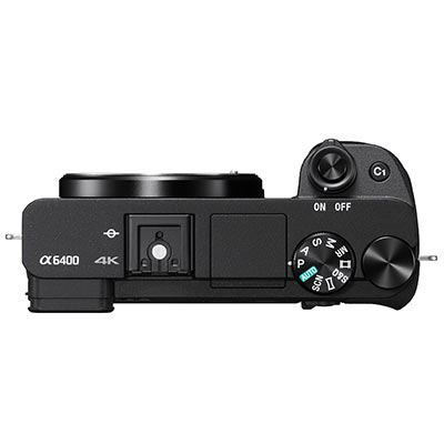 Sony a6400 Camera Body Top Facing