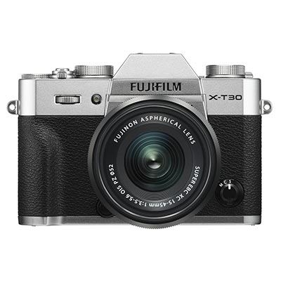 Fujifilm X-T30 Digital Camera with XC 15-45mm Lens - Silver