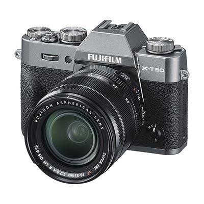 Fujifilm X-T30 Digital Camera with XF 18-55mm Lens - Charcoal Grey