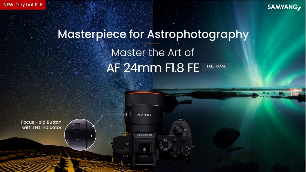 AF 24mm F1.8FE Launch Poster scaled