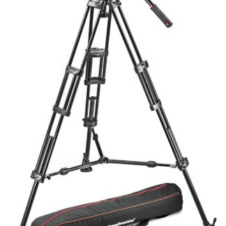 Manfrotto - Professional fluid video system/ aluminum / mid spreader