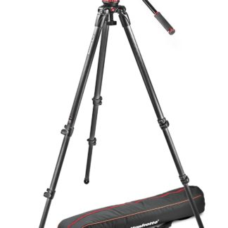Manfrotto - Professional fluid video system/ carbon / single legs