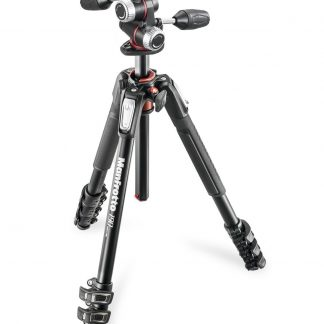 Manfrotto 190 kit - alu 4-section horiz. column tripod + 3 way head