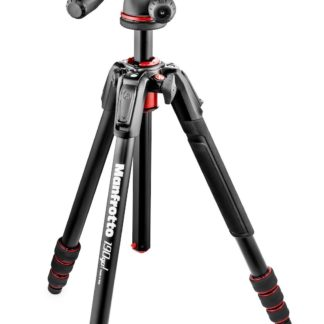Manfrotto MK190GOA4TB-3W 190 Go! kit Alu black 4 Sec w/ Twist Locks & 3 way head
